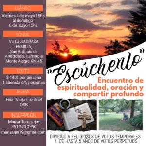 Encuentro de Espiritualidad, Oración y Compartir Profundo @ Villa Sagrada Familia
