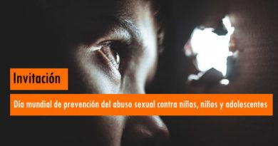 Invitación: Día mundial de prevención del abuso sexual contra niños, y adolescentes
